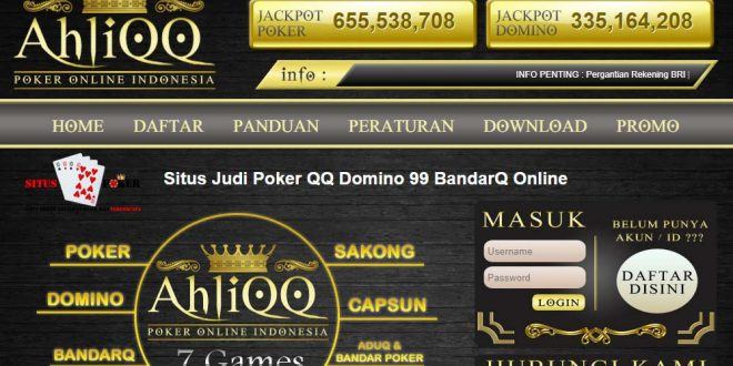 ahliqq situs poker online terpercaya