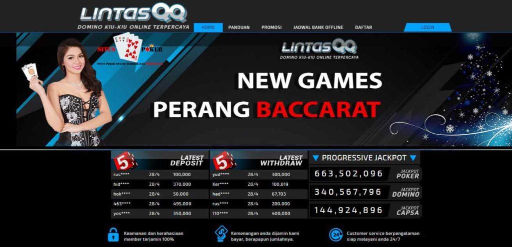 LINTASQQ Merupakan Agen Domino QQ & Judi Poker Terpercaya
