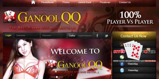 GANOOLQQ Situs Judi DominoQQ Online Terpercaya Di Asia