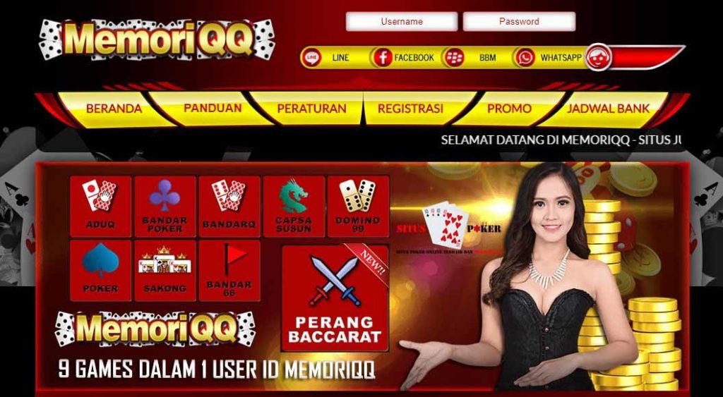 MEMORIQQ Situs Judi Domino QQ Terpercaya Di Indonesia