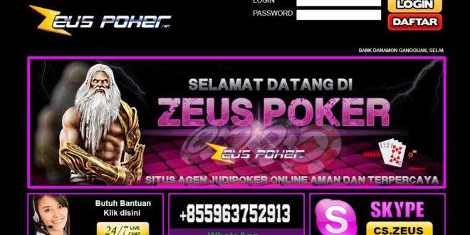 ZEUSPOKER Situs DominoQQ Online Dan BandarQ Terpercaya