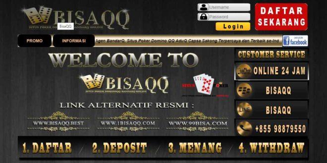 BISAQQ Situs Poker BandarQ DominoQQ Online Terpercaya Indonesia