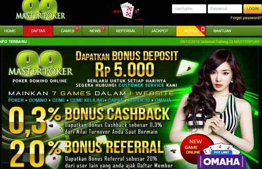 MASTERPOKER99 Situs Judi Online Terpercaya Dan Terbaik Indonesia