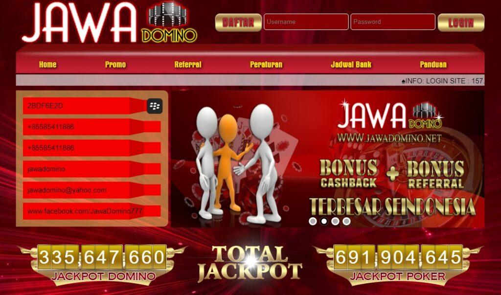 JAWADOMINO Situs Poker Online Terpercaya dan Bonus Terbaik