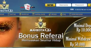MAHKOTAQQ Merupakan Situs DominoQQ Terpercaya dan Terbaik