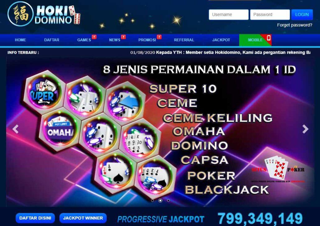 HOKIDOMINO Merupakan Situs Judi Online DominoQQ & Poker Online