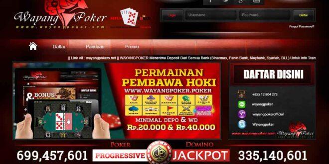 WAYANGPOKER Agen Judi Poker Online Terpercaya