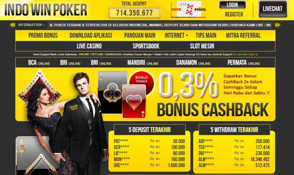 INDOWINPOKER Situs Judi Poker BandarQ Terpercaya