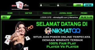 NIKMATQQ Agen Judi BandarQ Online Terpercaya Indonesia