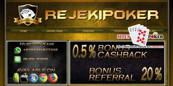 REJEKIPOKER Situs Poker Online DominoQQ Terpercaya